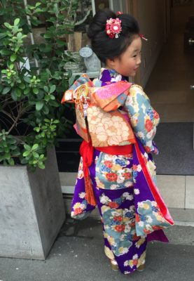 七五三 新日本髪 7歳 着物