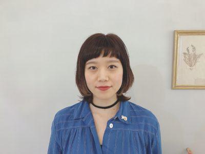大阪 美容室 RICCA  スタッフ レイヤー ボブ