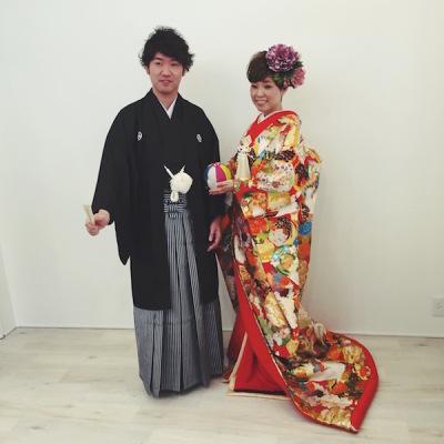大阪 中崎 着物 美容室 ショート ヘア お花