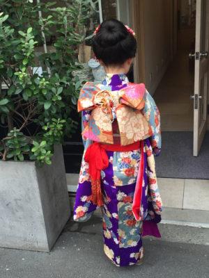 七五三 新日本髪 ヘアセット 着物