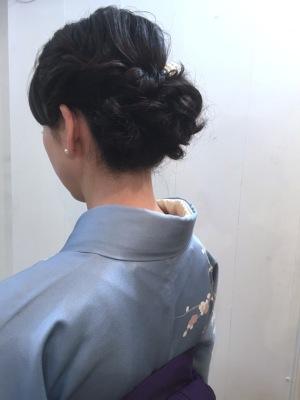 中崎町 美容室 RICCA ヘア セット アレンジ 編み込み
