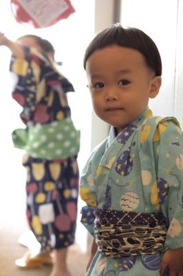 子供×浴衣×オカッパヘア