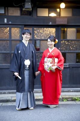 婚礼 赤振袖 中崎町