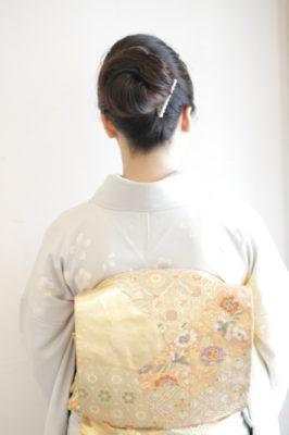 着物 シンプル まとめ髪